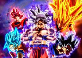 Gokus Forms Super Saiyan 3Super GodSuper BlueUltra Instinct Mastered Ultra