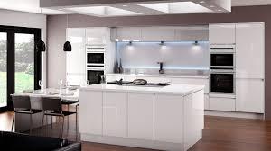 linear white gloss kitchen betta living