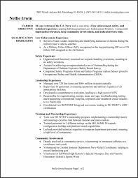 Resume Templates Military Police Flight Ficer Sample Law Enforcement Template