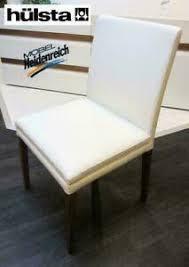 details zu 4 er esszimmerstuhl hülsta leder massiv weiß stühle nussbaum d20 2 neu