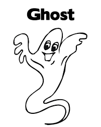 Ghost Free Halloween Coloring Pages Kids