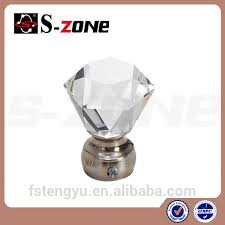 crystal glass finials for curtain rods crystal glass finials for