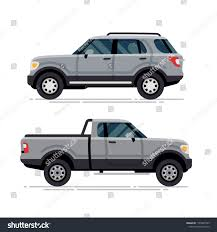Cool Modern Large SUV Pickup Truck Stock Vector (Royalty Free ...