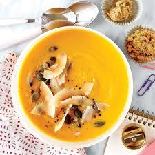 Unsalted Pumpkin Seeds Recipe by Gingered Sweet Potato Soup U0026 Toasted Coconut U0026 Pumpkinseeds Recipe