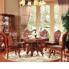 neue klassische esszimmermöbel holzschnitzerei küchentisch