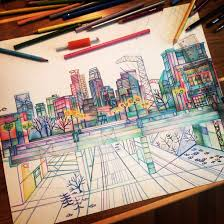 Art Beautiful City Colored Pencils Colors Creative Drawing Madelinebestesart