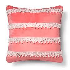 Alexis Pom Pom Pillow 18x18 Pink Sheringham Road™ Tar