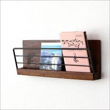 Wall Shelf Rack Wooden Iron Magazine This Storage Pocket Letter Racks
