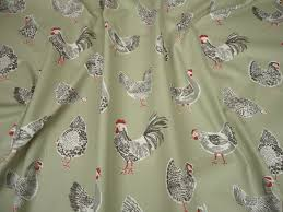 Material For Curtains Uk by Clarke U0026 Clarke Rooster Sage Cotton Curtain Fabric