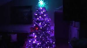 2011 Flocked Christmas Tree Factory GE G 35 200 Bulbs 4 X 50 Lights And Modified Star Dec 12 HD