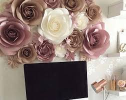 Items Similar To Paper Flowers Wall Decor Giant