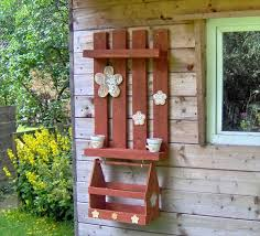 Salvaged Brick Red Garden Wall Rack With Box