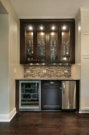 Wet Bar Lighting And Color Cabinets