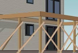 Free Standing Deck Bracing by How To Build A Single Level Raised Deck At The Home Depot