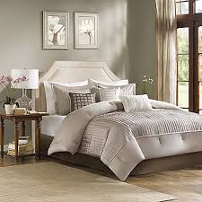 Bed Bath And Beyond Couch Covers by Madison Park Trinity Reversible 7 Piece Comforter Set In Taupe