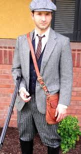 1920s Vintage English Hunting Attire Downton Abbey Party Mens Wool Tweed Clothing Costume Ideas