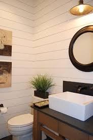 modern farmhouse powder bath eclectic bathroom bauernhaus