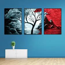 2018 Fashionable Environment With City Night View Bedroom Living Room Sofa Background Wall Inkjet Decorative Painting Blue Series From Liuxu1 Price
