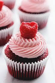 Red Velvet Raspberry Cupcakes