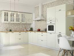 landhaus küchenzeile eckküche lora l form 235x365 cm in weiß beige oder grau