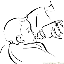 Coloring Page Printable Funny Baby Boy And Girl Colouring Pages