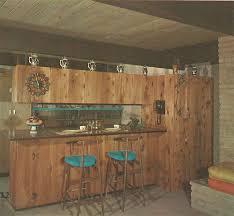 Mid Century Knotty Pine Kitchen