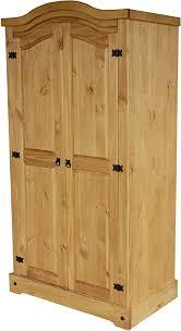 kleiderschrank 2 türig honig classico schlafzimmer holz pinie massivholz echtholz farbe wählbar brasilmöbel