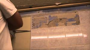 Regrouting Floor Tiles Youtube by Removing Tile From Bathroom Wall Luxury Home Design Ideas