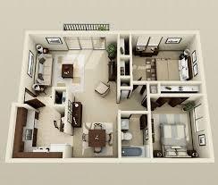 appartement avec une chambre 50 plans 3d d appartement avec 2 chambres 3d plans et appartements