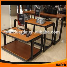 3 Tier Nesting Retail Display Tables With Wood Tops