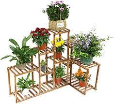 malayas pflanzenregal holz blumentreppe 5 ebenen blumenständer für blumentöpfe halter rack gartenregal indoor outdoor balkon wohnzimmer deko