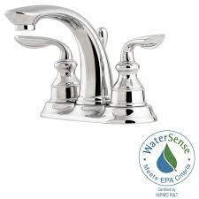 Pfister Faucets Home Depot by Pfister Avalon 4 In Centerset 2 Handle Bathroom Faucet In