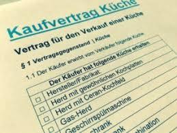 kaufvertrag küche muster küchenkaufvertrag für privat