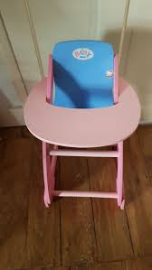 Baby Born Doll Highchair In E17 London Borough Of Waltham Forest For ... Dolls High Chair Amazoncom Badger Basket White Rose Doll High Chair Fits American Chairs For Baby Vintage Wooden Fniture Toy Store Etsy Love This Set For 14 To 18 By On Le Van And Child Astounding Of Sple 13147 Forazhouse Jonti Craft Traditional Timorous Beasties Hape Highchair Buy Online At The Nile Ojcommerce Personalised Engraved Toddler Gift Ideas Diy Cribs With Free Easy Plans Kastavcrkvacom