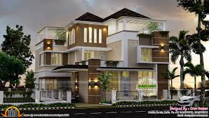 Of Images Ultra Luxury Home Plans by 3492 Square Contemporary Home Kerala Home Design And Floor