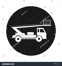 Boom Trucks Icon Black Isolated Stock Vector (Royalty Free ...