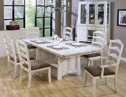 11 White Distressed Dining Room Sets Awesome Inspiration Ideas China Cabinet