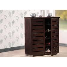 Baxton Studio Shoe Cabinet White by Baxton Studio Adalwin Modern And Contemporary Dark Brown Wooden 2