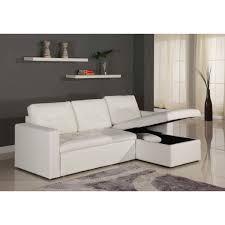 canap faux cuir canapé d angle lit convertible girly blanc en simili cuir