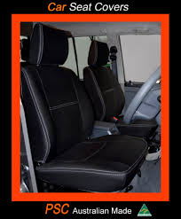 Seat Covers Fit TOYOTA PRADO Front Full-back Pocket + Rear Premium ...