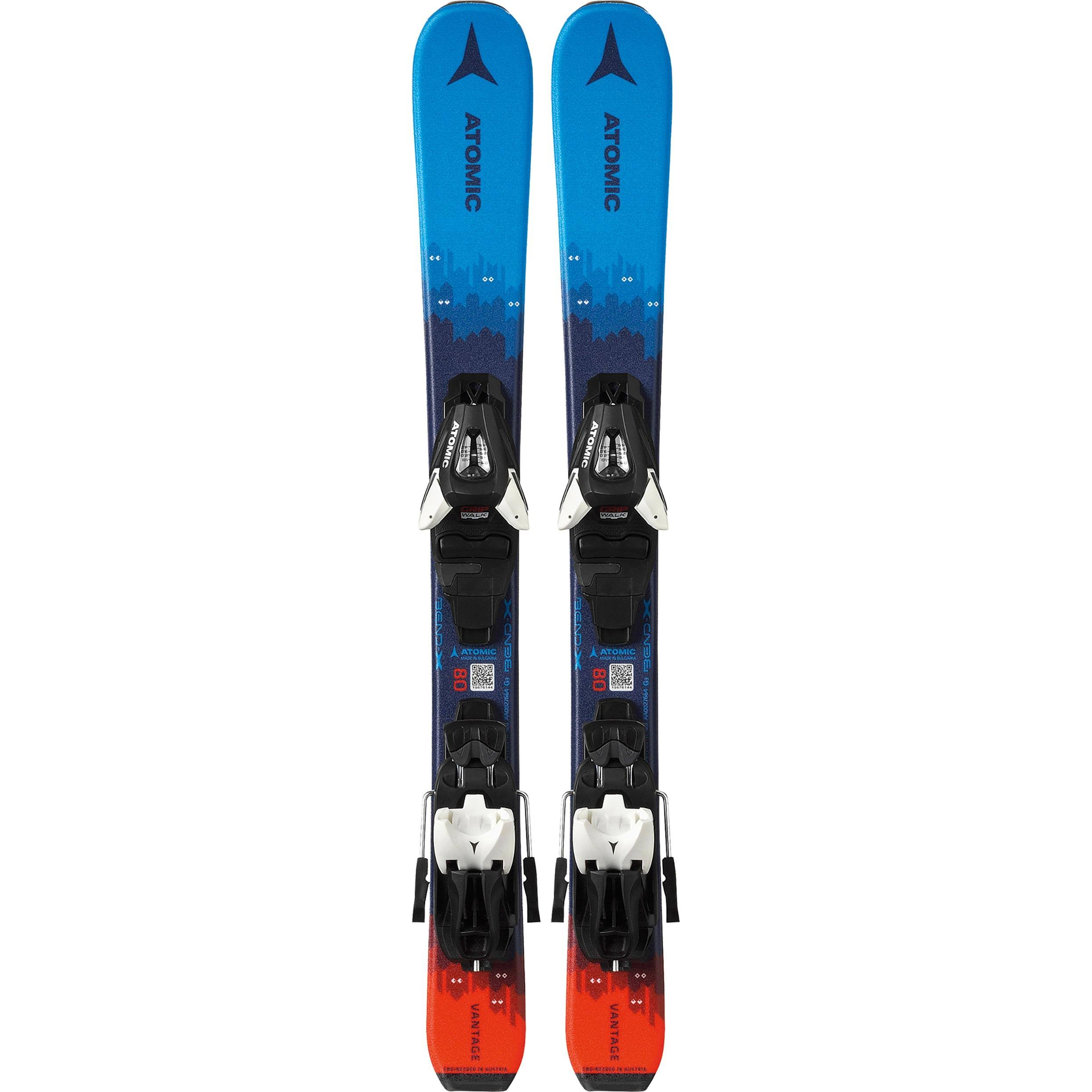 Atomic Vantage Junior 70-90cm + H C5 GW Unisex (Blue / Red, Gr. 7), On-Piste Skis with Binding/Skis