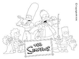 Bart Laughing The Simpson Family And Squirrels Coloring Page