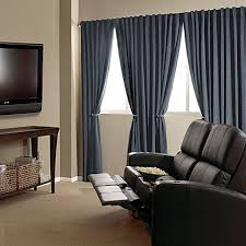 absolute zero velvet blackout home theater curtain panels bed