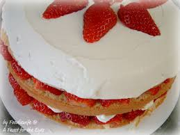 A Feast for the Eyes Beautiful Creamy Strawberry Cream Cake