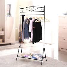 Decorative Metal Garment Rack by Designer Clothes Rails Storage Ideas