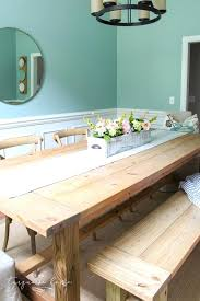 Diy Dining Room Table With Bench Myimgclub