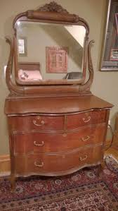 antique oak dresser with beveled glass mirror beveled in very