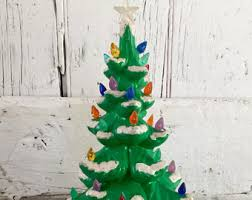 Bulbs For Ceramic Christmas Tree by Winter White Ceramic Christmas Tree Clear Lights Large 18 Inch