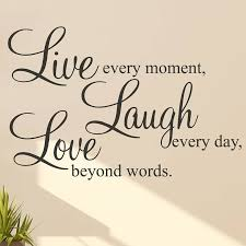 Amazing Ideas Live Laugh Love Wall Art Or Stickers Quotes Sticker Interiors And Walls Diy Canvas