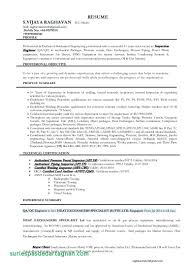 Resume Objective Examples For A Welder Unique Of Qa Qc Welding Engineer With 5 Years